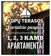 """""""Kopų terasos"""" – apartamentai prie Parnidžio pušyno"""