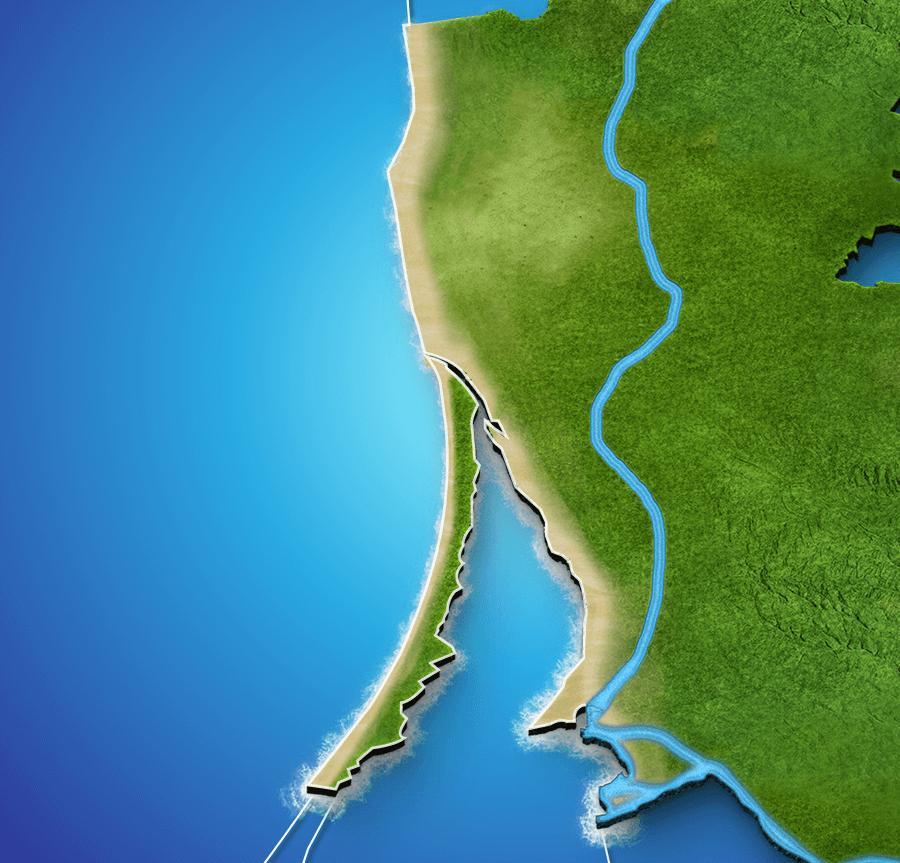 Litauischen Küstenwetterkarte