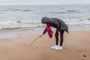 Piešimas ant smėlio