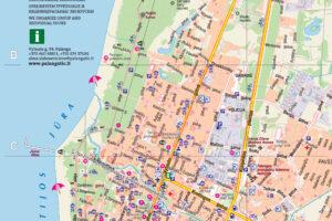 Palangos dviračių takų žemėlapis