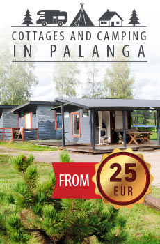Holiday cottages and camping in Palanga