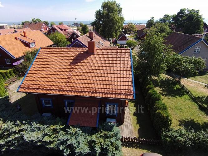 Villa Erika in the center of Nida - a wooden house with a private yard, terrace. Renovated in 2020 - 2