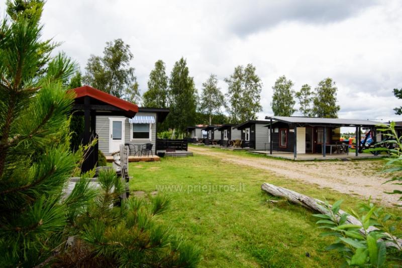 Atpūta Palangā - koka namiņi, kempings, teltis (No 5 € / personu grupām)