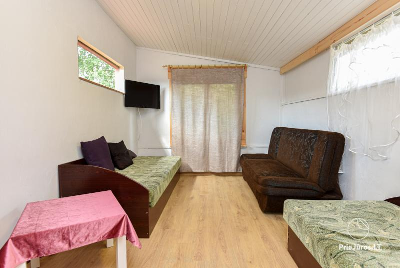 Holiday in Palanga in wooden cabins, campers, tents (from 5 € / persons for groups)