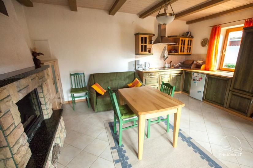 Cottage with fireplace for rental, apartment and rooms for rent in Nida - 7