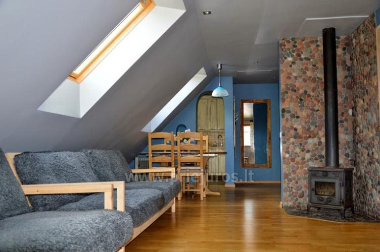 Cottage with fireplace for rental, apartment and rooms for rent in Nida - 5
