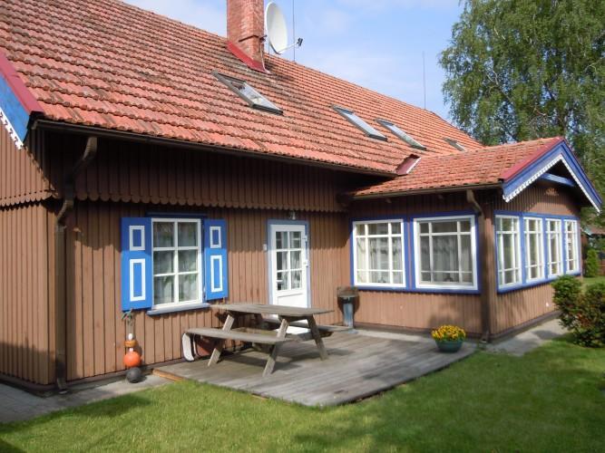 Apartamentai Nidoje 6-8 asmenims su sauna, privačiu kiemeliu prie Jachtklubo