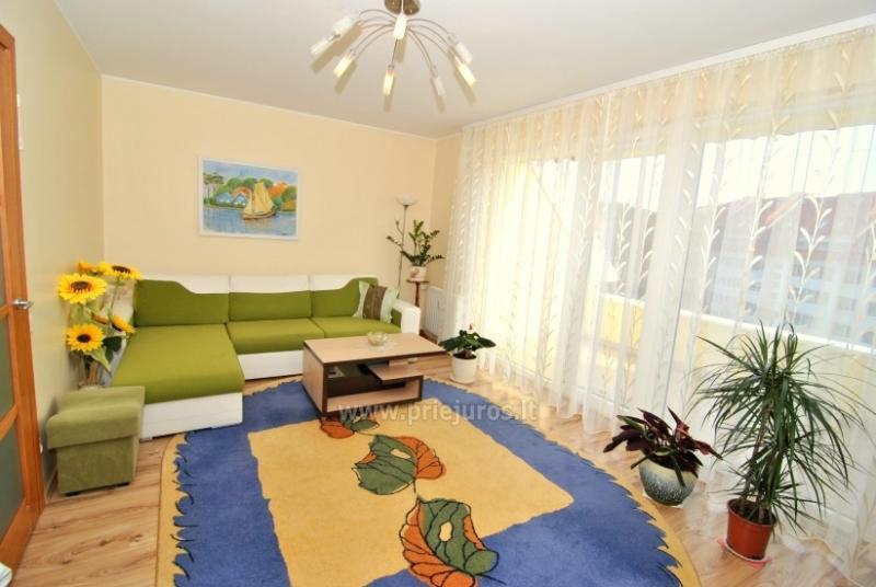 Dviejų kamb. butas Nidos centre su dideliu balkonu, virtuve, 2 televizoriais