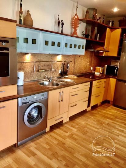 Two-bedroom Apartment Rental in Nida Saltinelis with yard, outdoor furniture - 3