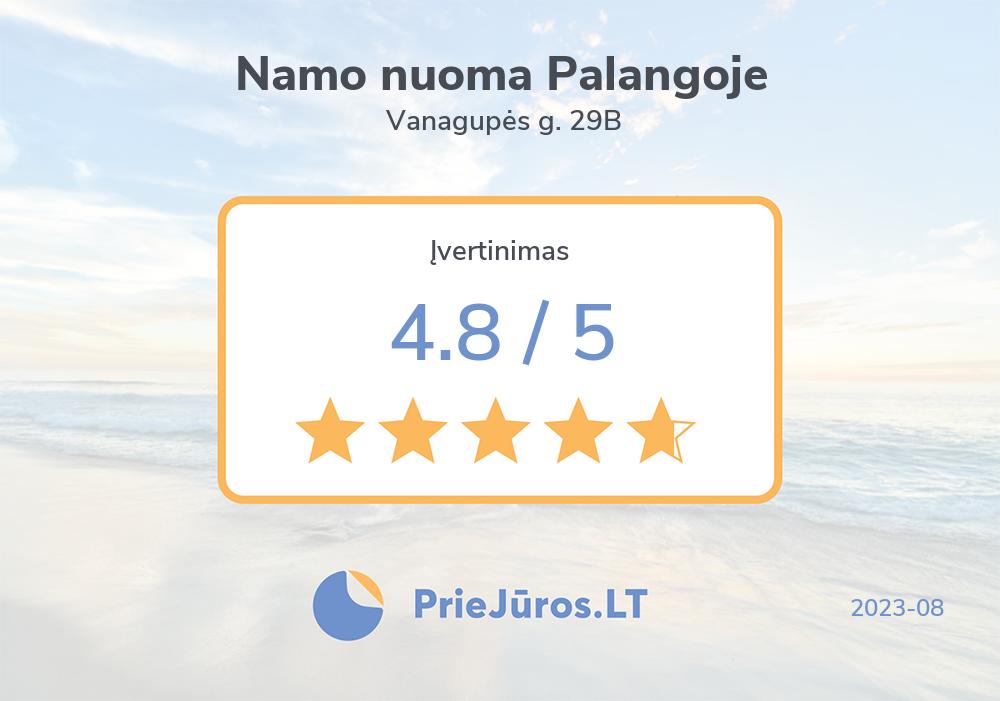 Holiday makers' reviews – Namo nuoma Palangoje, Vanagupės g. 29B