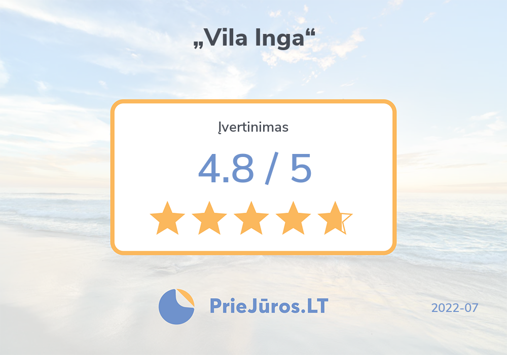 "Holiday makers' reviews – ""Vila Inga"""