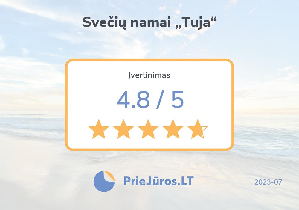 """Holiday makers' reviews – Svečių namai """"Tuja"""""""