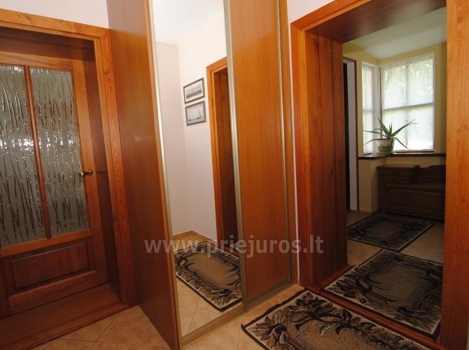 Dviejų kambarių butas Juodkrantėje su židiniu ir pavėsine kieme - 18