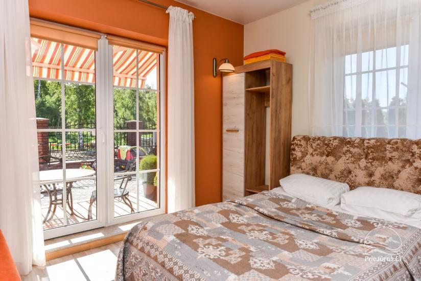 Jauni brīvdienu māja, apartamenti un numuri ar virtuvi un terasēm Palangā - villa OPTIMISTAS - 22