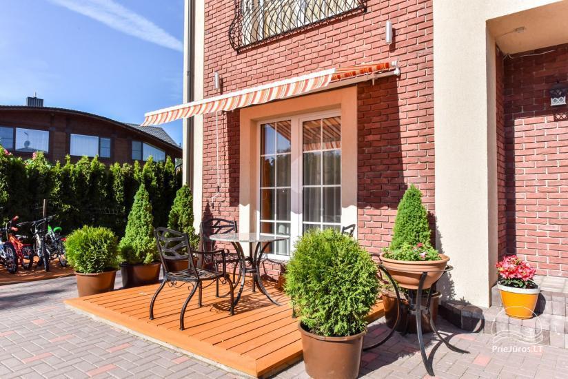 Jauni brīvdienu māja, apartamenti un numuri ar virtuvi un terasēm Palangā - villa OPTIMISTAS - 20