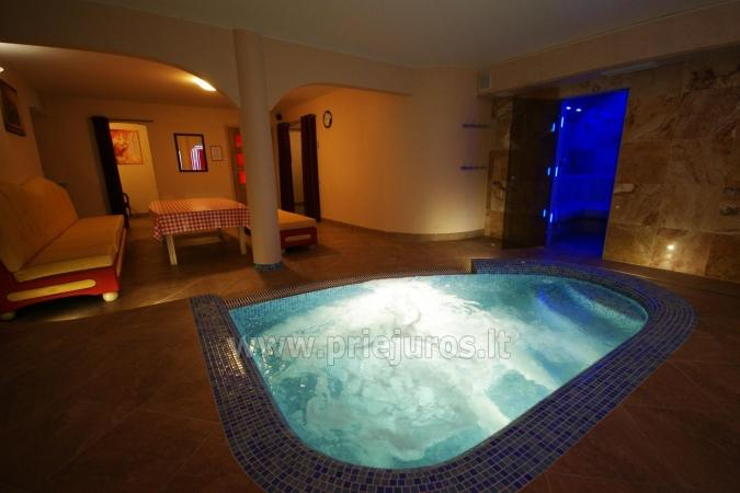 Accommodation, sauna and jacuzzi in Klaiepda
