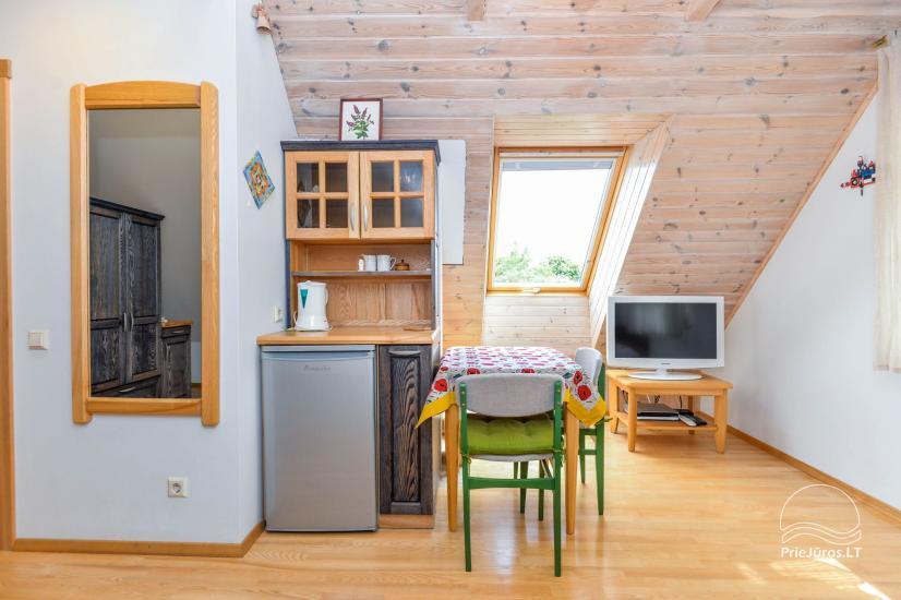 Trīs istabu dzīvoklis ar pagalmu, lapene - īre Nidā, Kuršu kāpā - 19