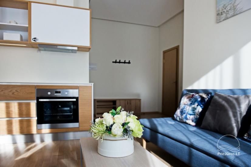 Jaukūs dviejų kambarių apartamentai nuomai Palangos širdyje - 7