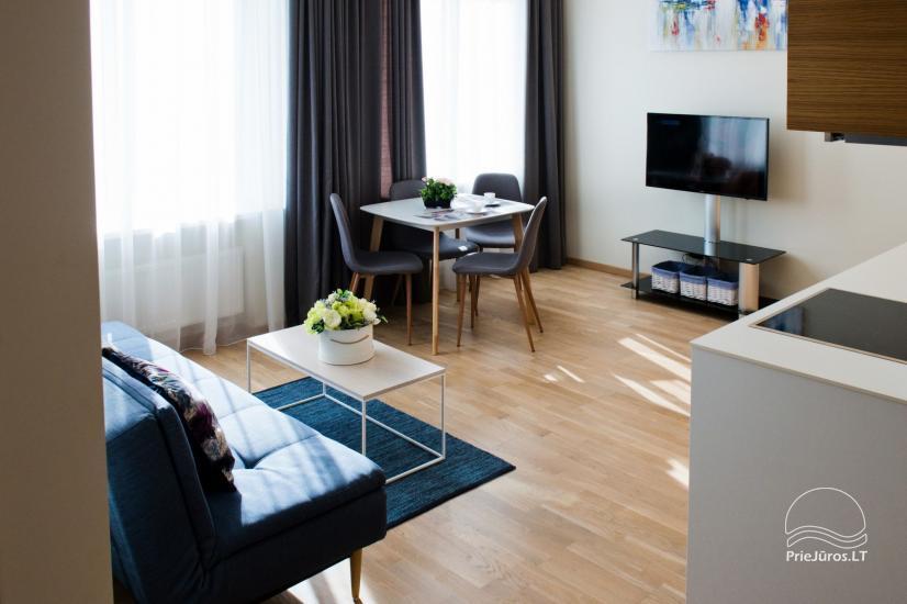 Jaukūs dviejų kambarių apartamentai nuomai Palangos širdyje - 9
