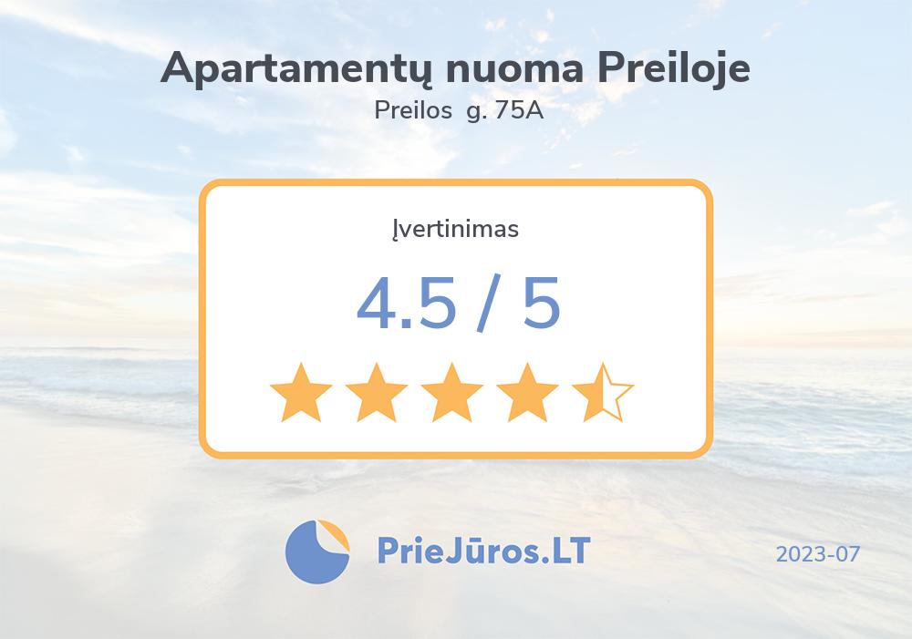 Holiday makers' reviews – Apartamentų nuoma Preiloje, Preilos  g. 75A