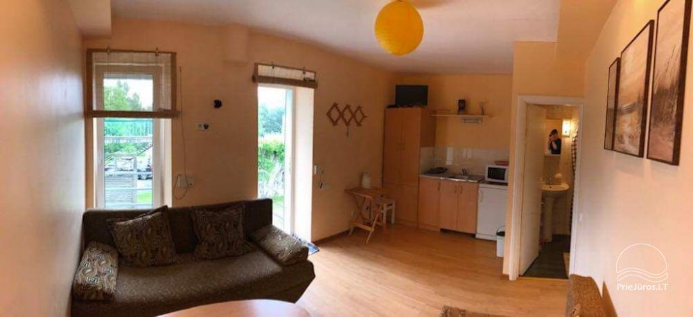1 istabu dzīvoklis Nidā. Pirmais stāvs, 500 metru attālumā no jūras - 5