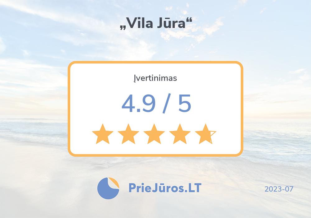 "Urlauber Bewertungen – ""Vila Jūra"""