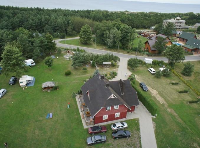 Camping, Zimmer und Appartements für in Sventoji in einem Gehöft OŠUPIS