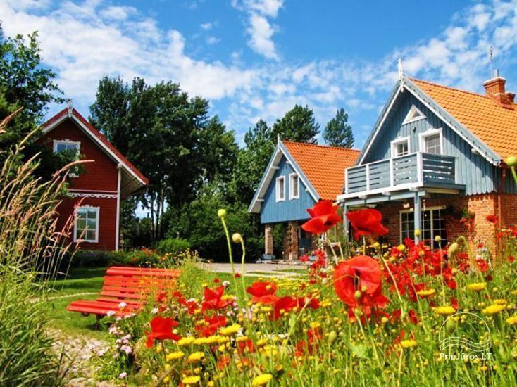 Apartments und Zimmer in Palanga mit Küche, weitläufiger Garten, Kinderspielplatz, 500 m zum Meer