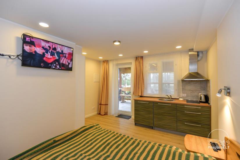 1 kambario apartamento su terasa ir kiemeliu nuoma Nidoje Pas Edgarą 2 - 6