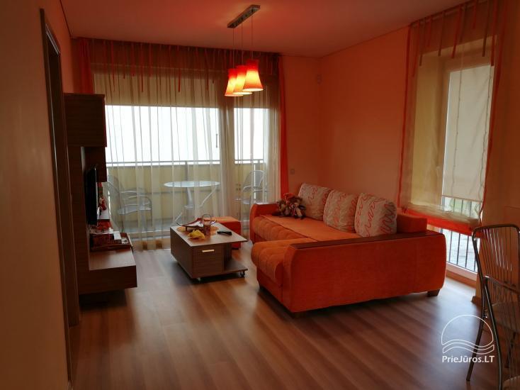 Jaukūs dviejų kambarių apartamentai nuomai Palangoje