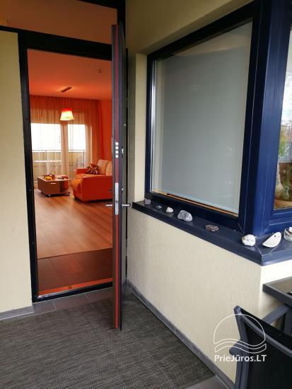 Jaukūs dviejų kambarių apartamentai nuomai Palangoje - 11