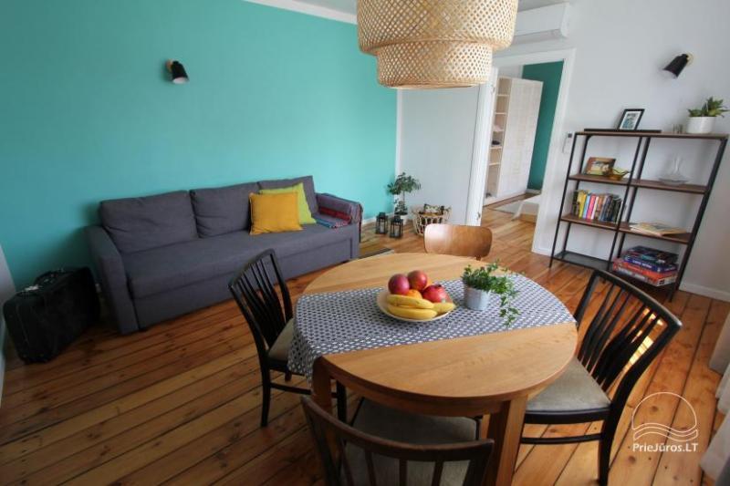 4 vietų apartamentų nuoma, vos 200 m. iki jūros!