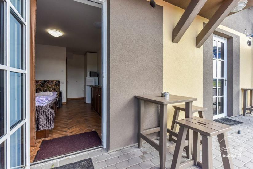 Apartments on the ground floor with separate entrance from the yard