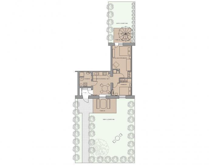 2-room apartment in Juodkrante - 6