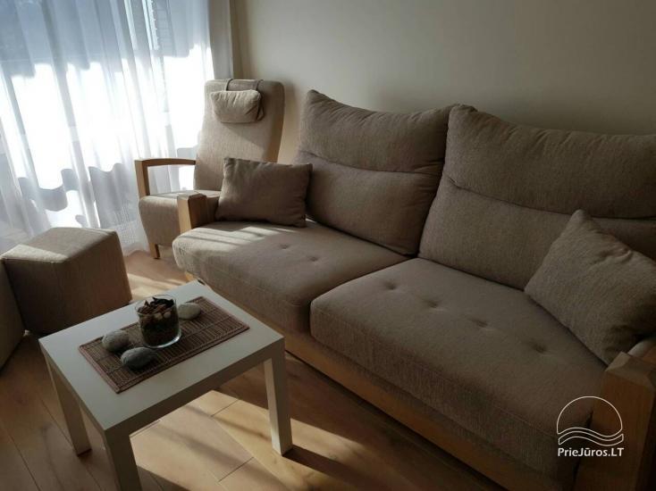 Nuomojamas 2 kambarių naujas butas - apartamentai, 300 metrų nuo jūros - 4