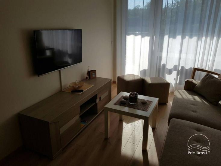 Nuomojamas 2 kambarių naujas butas - apartamentai, 300 metrų nuo jūros - 5