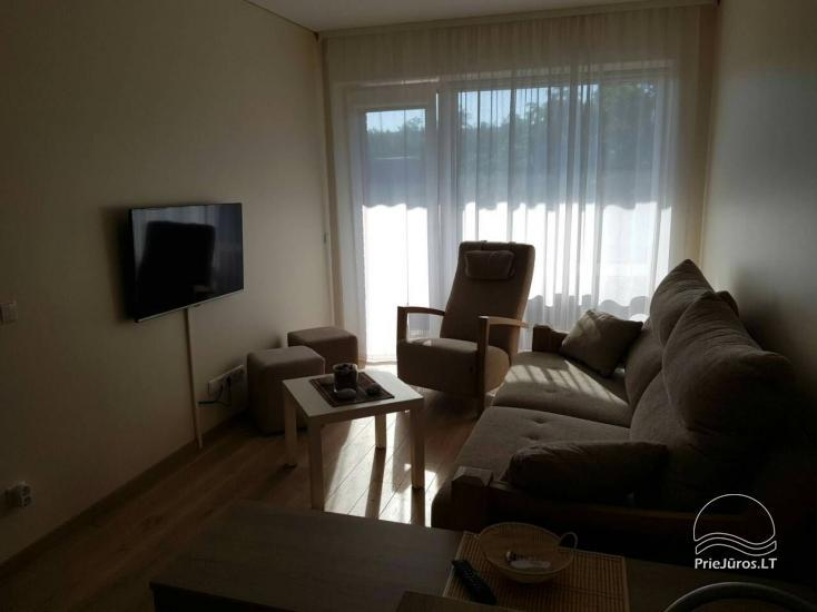Nuomojamas 2 kambarių naujas butas - apartamentai, 300 metrų nuo jūros - 6