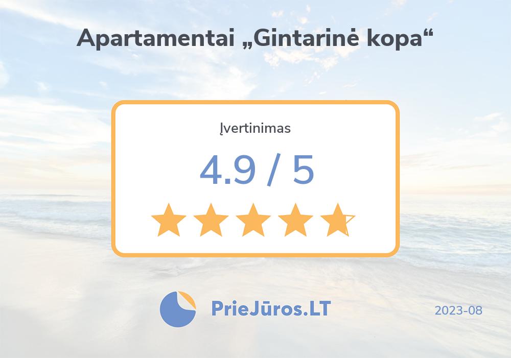 """Holiday makers' reviews – Apartamentai """"Gintarinė kopa"""""""