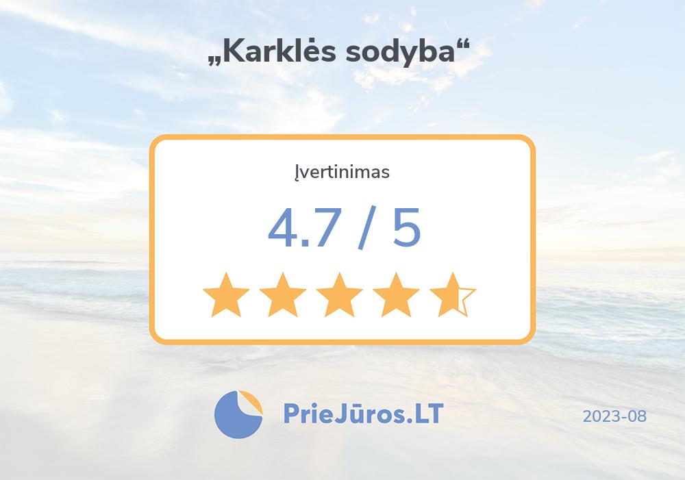 "Holiday makers' reviews – ""Karklės sodyba"""