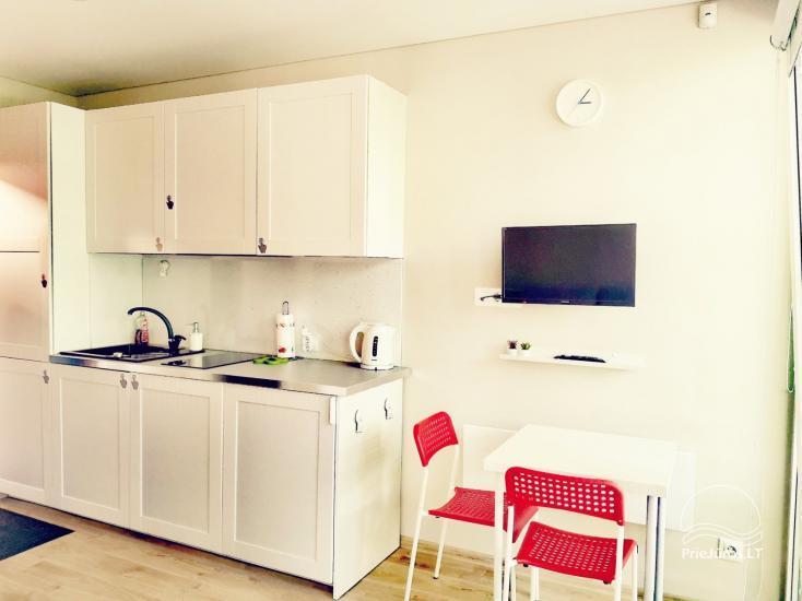 Mājīgi studijas tipa dzīvokļi atpūtai Kuršu kāpā