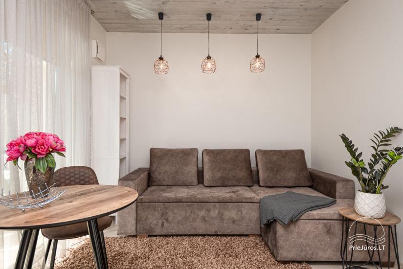 Nauji 2 kambarių apartamentai prie jūros - 5