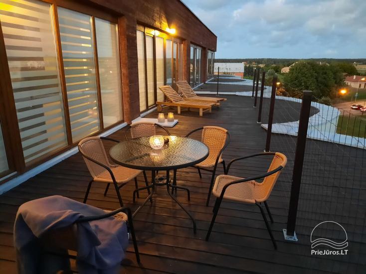 Jaukiai įrengto buto su terasa nuoma Šventojoje - 1
