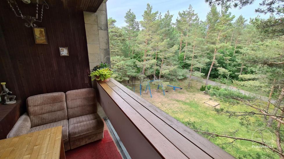 Dviejų kambarių buto nuoma su 2 balkonais Palangoje - 12