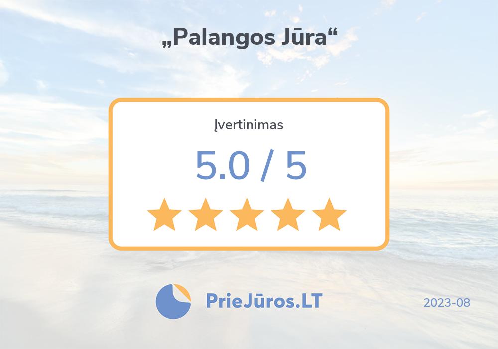 """Holiday makers' reviews – """"Palangos Jūra"""""""