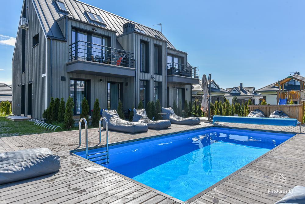 Seaside Getaway - Naujų apartamentų nuoma su šildomu lauko baseinu Palangoje, Kunigiškiuose - 1