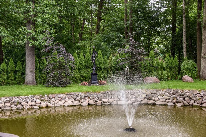 Namelis ir kambariai Palangoje. Yra žaidimų aikštelė, tvenkinys su fontanu, didelis kiemas - 6