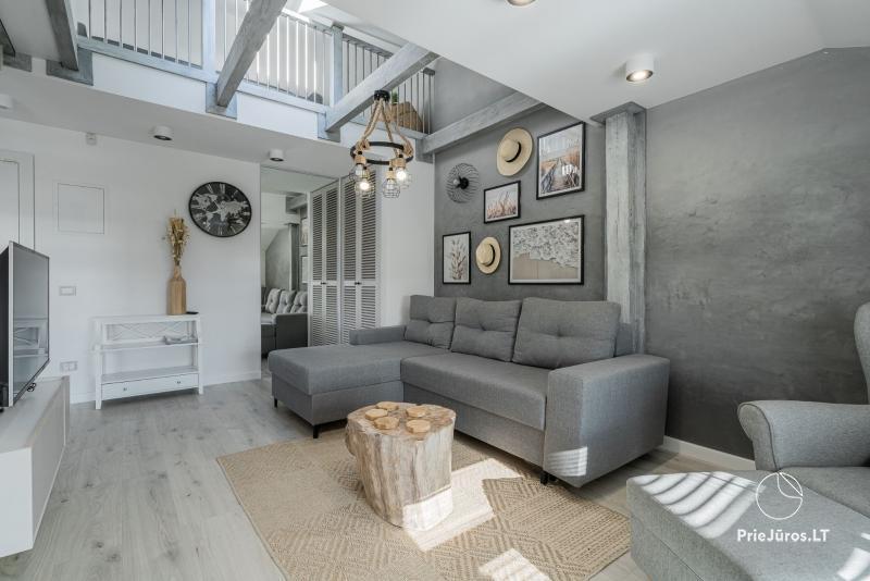 Apartamentai Nidoje Come'In Nida su vaizdu į Kuršių marias. Jacuzzi, garinė pirtis, baseinas
