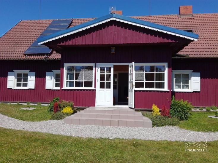 Ferienwohnungen, Zimmer, Ferienhütten, Camping, Haus mit Halle Sodyba prie jūros - 5