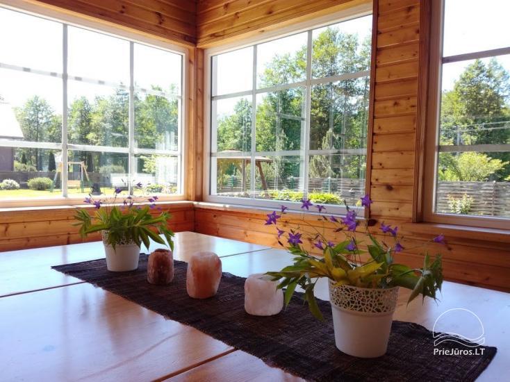 Ferienwohnungen, Zimmer, Ferienhütten, Camping, Haus mit Halle Sodyba prie jūros - 15