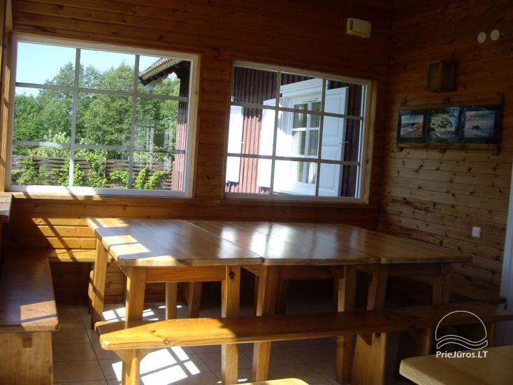 Ferienwohnungen, Zimmer, Ferienhütten, Camping, Haus mit Halle Sodyba prie jūros - 14